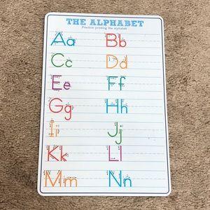 THE ALPHABET Practice printing the alphabet